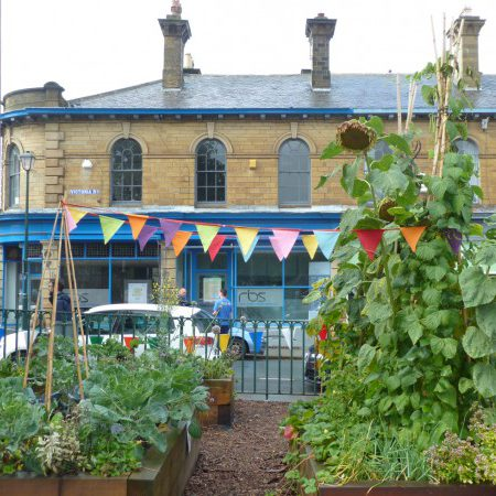 Our Original Garden In Caroline Street Car Park Is On The Site Of The  Former Sunday School Built By Sir Titus Salt (demolished In 1972). The  Garden Contains ...